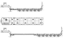 HARTUNG 96722Т.1-0000010 Раздвижной телескопический полуприцеп-тяжеловоз