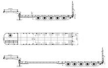 HARTUNG 95622Т-0000010 Раздвижной телескопический полуприцеп-тяжеловоз
